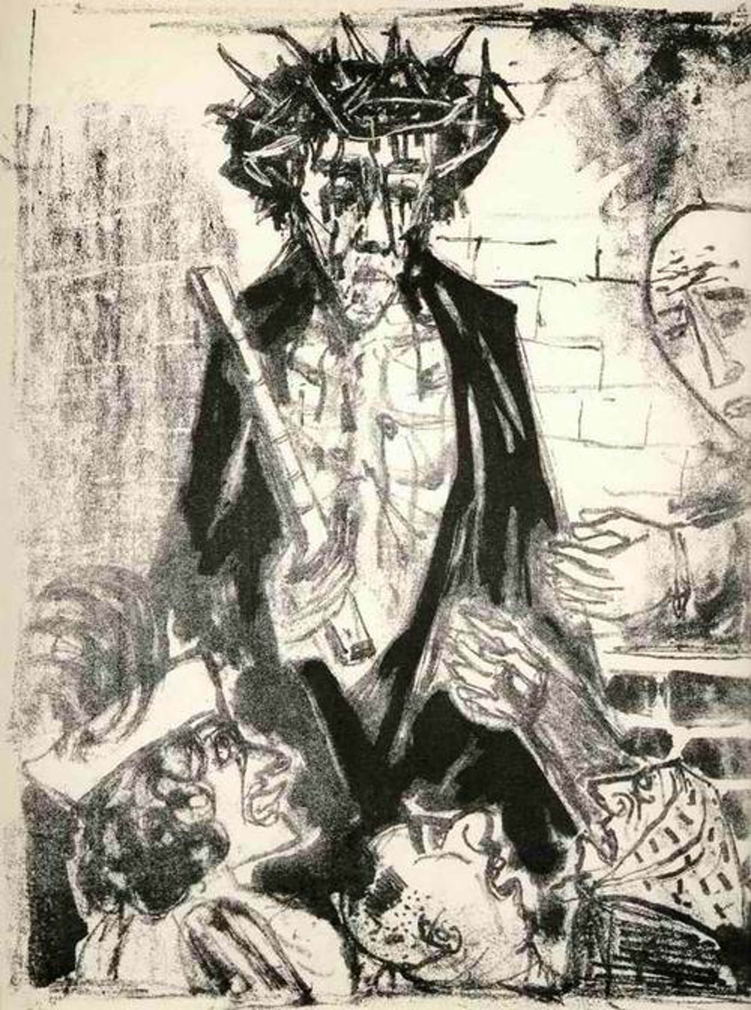 Otto Dix - GEGRÜSST SEIS DU, DER JUDEN KÖNIG - OriginalLithographie (Handabzug) DRESDENer SEZESSION kopen? Bied vanaf 75!