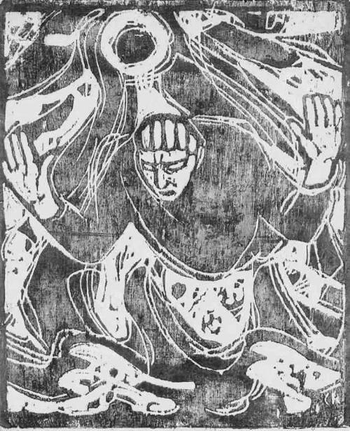 Christan Rohlfs - GEIST GOTTES über den WASSERN - 1915 - Grossformatiger Druck i.Originalformat auf JAPANBÜTTEN Vogt91 kopen? Bied vanaf 120!