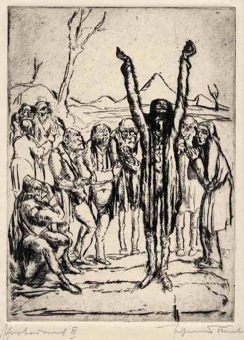 Johannes Thiel - - GENIE - Titulierte handsignierte OrginalRadierung des Hans-THOMA-PreisTrägers BadenWürttemberg kopen? Bied vanaf 120!