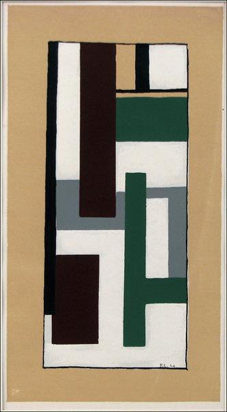 Fernand Leger - Geometric Composition Fernand Leger kopen? Bied vanaf 275!