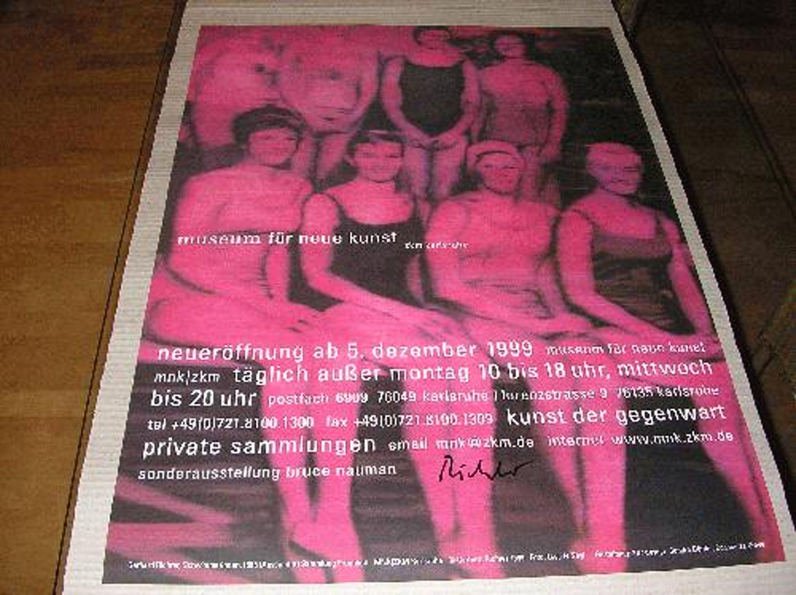 Gerhard Richter - Gerhard Richter: Handsigniertes, seltenes, großes Plakat kopen? Bied vanaf 950!