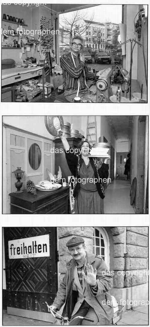 Enno Kaufhold - GESCHICHTETE MOMENTE - 1987 - 3 OriginalFotographien = 3 Portraits aus dem HAMBURGer UNI-Viertel kopen? Bied vanaf 150!