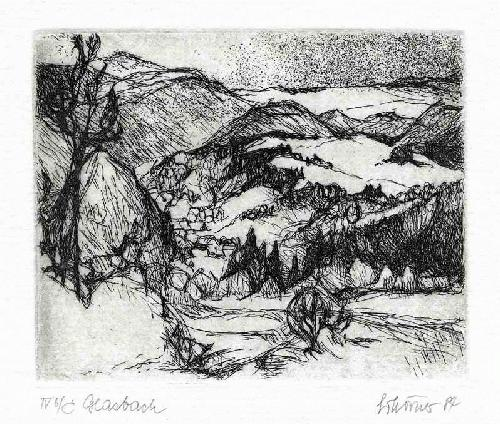 Gottfried Körner - - GLASBACH - OriginalRadierung des DRESDENer Künstlers - 1984 handsigniert, tituliert, datiert kopen? Bied vanaf 26!