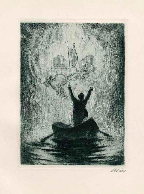 Erhard Amadeus Dier - GÖTTERSPUK - LAND in SICHT- OriginalRadierung d. Preisgekrönten WIENER Künstlers - handsigniert 1927 kopen? Bied vanaf 45!