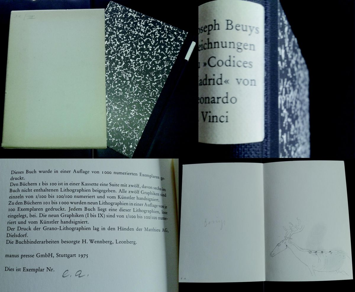 Joseph Beuys - Granolithografie e.a. signiert, von 1975 mit Buch SEHR SELTEN kopen? Bied vanaf 1500!