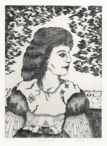 Aldona Gustas - GRATULANTIN - handsignierte Kaltnadelradierung der WEST-BERLINERIN aus LITAUEN - datiert & num. 1984 kopen? Bied vanaf 55!