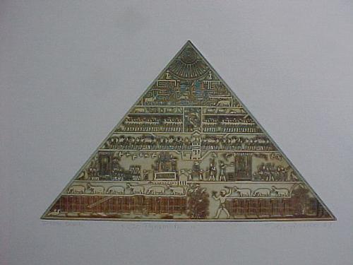 Reimund Franke - Große Pyramid, Farbradierung 1987 kopen? Bied vanaf 60!