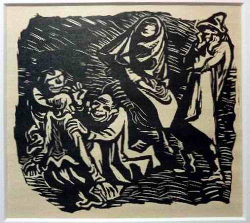 Ernst Barlach - GRUPPENDYNAMIK - 1922 - OriginalHolzschnitt unter Passepartout kopen? Bied vanaf 64!