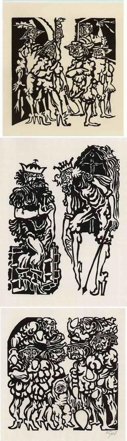 Hermet Ripè - GULLIVER in LILIPUT - 3 OriginalLinolschnitte des Otto MUELLER-Schülers BRESLAU handsigniert 1976 kopen? Bied vanaf 34!
