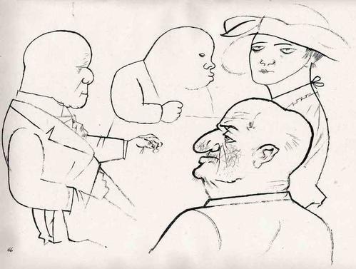 Georg Grosz - HAIFISCHE 1923 - Lithographie - Original aus dem Zyklus ECCE HOMO (MalikVerlag) kopen? Bied vanaf 79!
