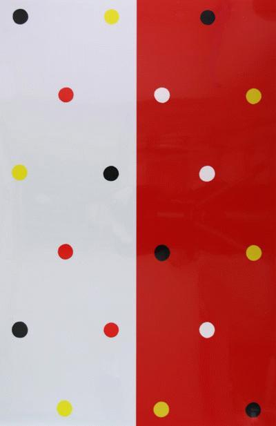 Elke Denda - HALBROTES BILD - Original Farbserigraphie auf PVC-Folie, 1991, signiert und numeriert, Ex.-Nr. 25/25 kopen? Bied vanaf 195!