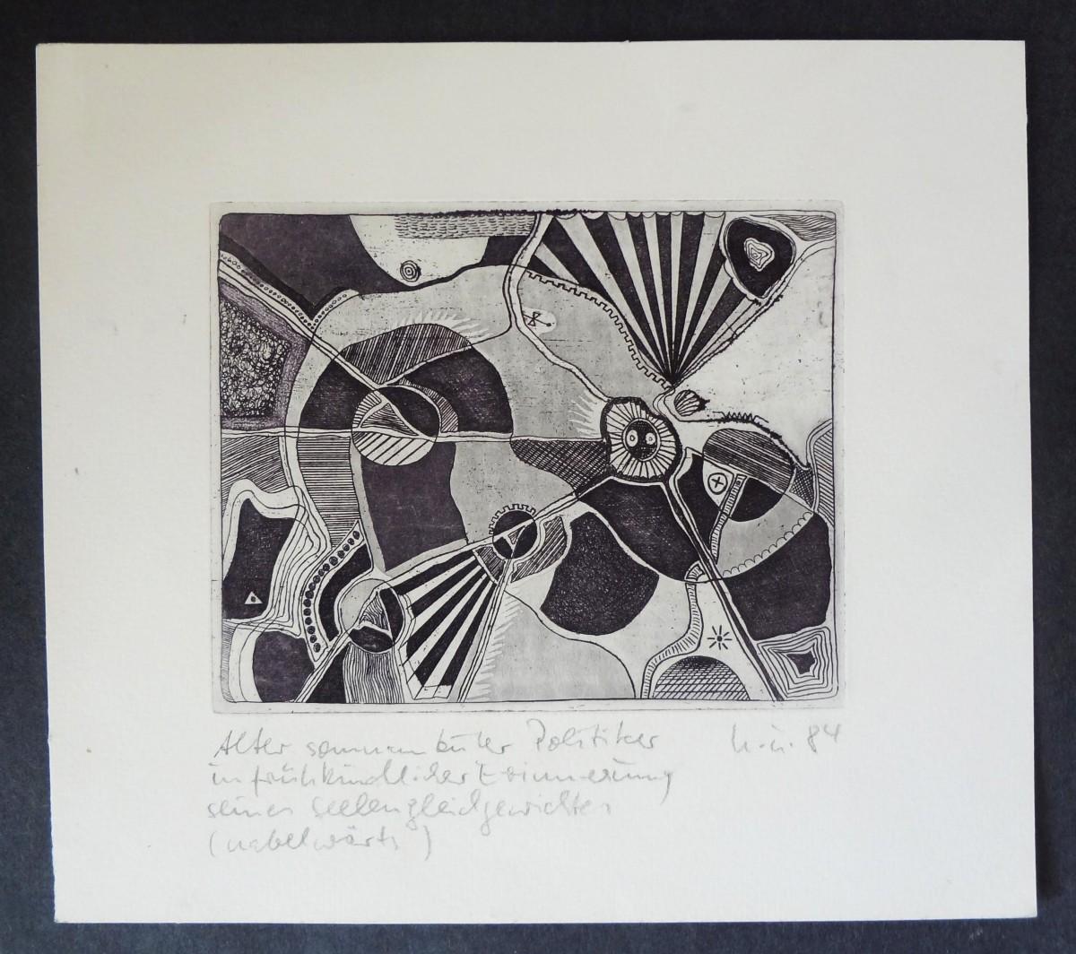 Heiner Ulrich - Handsignieerte Aquatinta Radierung, Leipzig 1984 kopen? Bied vanaf 79!