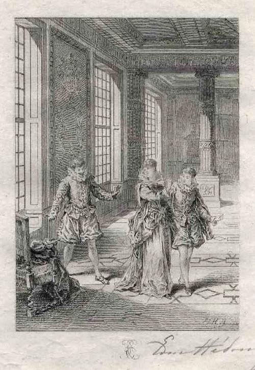 Edmond Hèdouin - Handsignierte filigrane OriginalRadierung z.THÉATRE de MOLIÈRE - EauForte Originale signée au Crayon kopen? Bied vanaf 39!