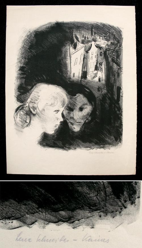 Lene Schneider-Kainer - Handsignierte Lithographie, 1919. kopen? Bied vanaf 120!