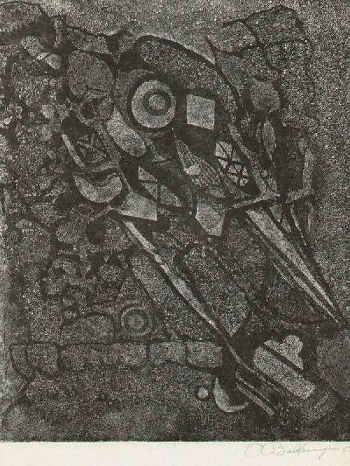 Pierre Baltensperger - Handsignierte OriginalHandätzung des SCHWEIZer Goldschmiedes & Grande CHAUMIÈRE PARIS Schülers kopen? Bied vanaf 45!