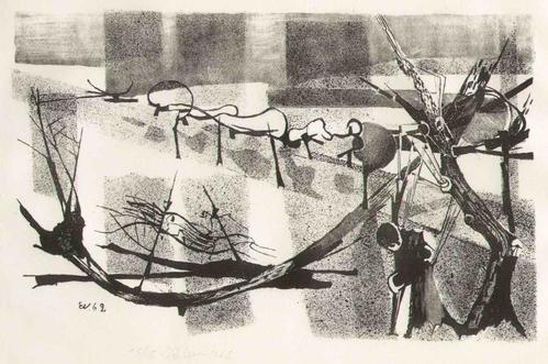 Ernst Weiers - Handsignierte OriginalLithographie des Paul KLEE-Meisterschülers an der AKADEMIE DÜSSELDORF - 1962 kopen? Bied vanaf 95!