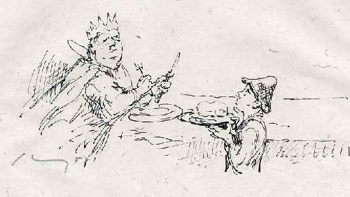 Max Slevogt - Handsignierte OriginalLithographie zu GRIMMs - Der EISENHANS 1920 auf feinstem handgerissenem Bütten kopen? Bied vanaf 65!