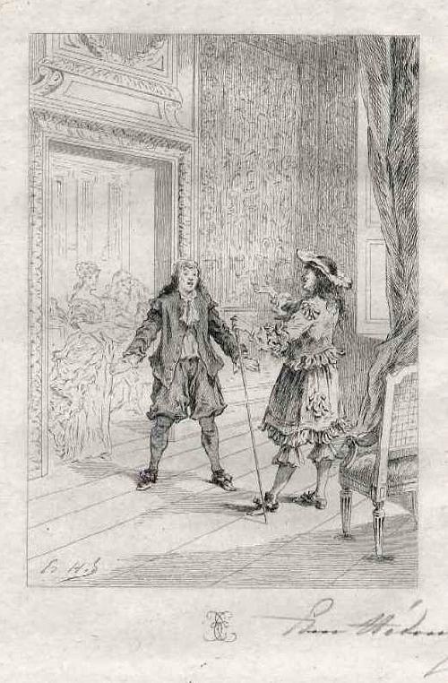 Edmond Hèdouin - Handsignierte OriginalRadierung des NANTEUIL & DELAROCHE-Schülers zu MOLIÈRE- EauForte signée crayon kopen? Bied vanaf 39!