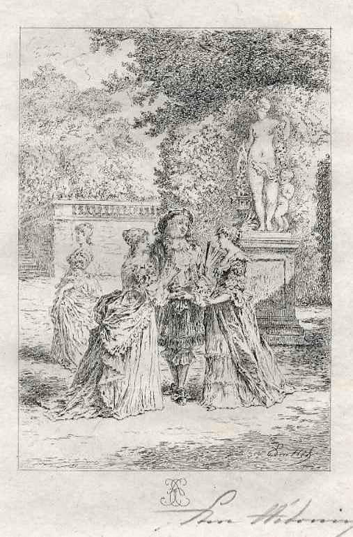 Edmond Hèdouin - Handsignierte OriginalRadierung zu MOLIÈREs THEATER - EauForte Originale signée au Crayon kopen? Bied vanaf 39!