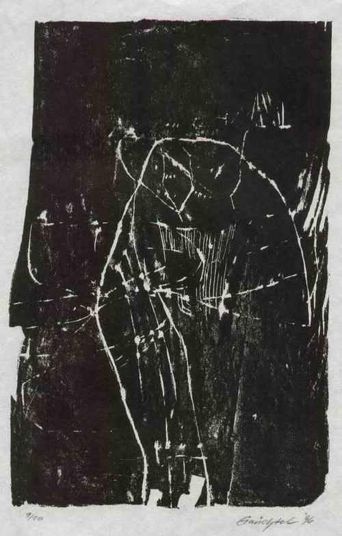 Dietrich Gnüchtel - Handsignierter OriginalHolzschnitt des Gruppe WAY of ART-Künstler aus LEIPZIG 1996(LEIPZIGER SCHULE) kopen? Bied vanaf 75!