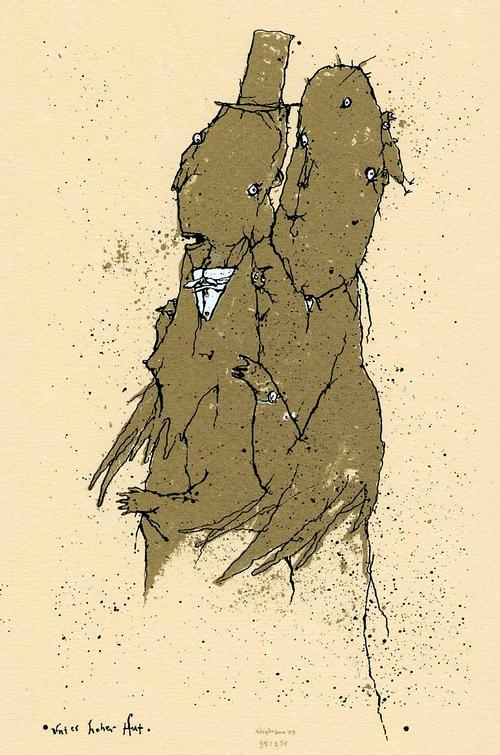 Kay Voigtmann - Handsignierter OriginalSiebdruck des HIRSCH & von BODECKER-Schülers d.HfGuBK LEIPZIG a:GERA +Katalog kopen? Bied vanaf 65!