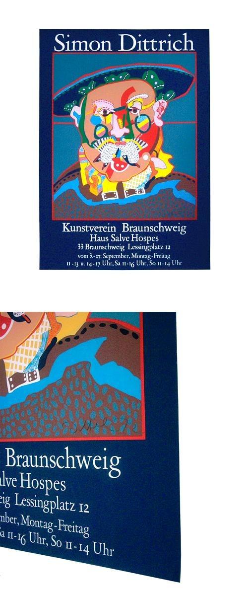 Simon Dittrich - Handsignierter Siebdruck. Plakat Kunstverein Braunschweig, 1972. kopen? Bied vanaf 50!