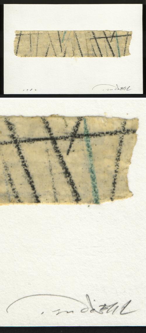 Tatsuo Tsuda - Handzeichnung auf Klebeband, 1982. kopen? Bied vanaf 75!