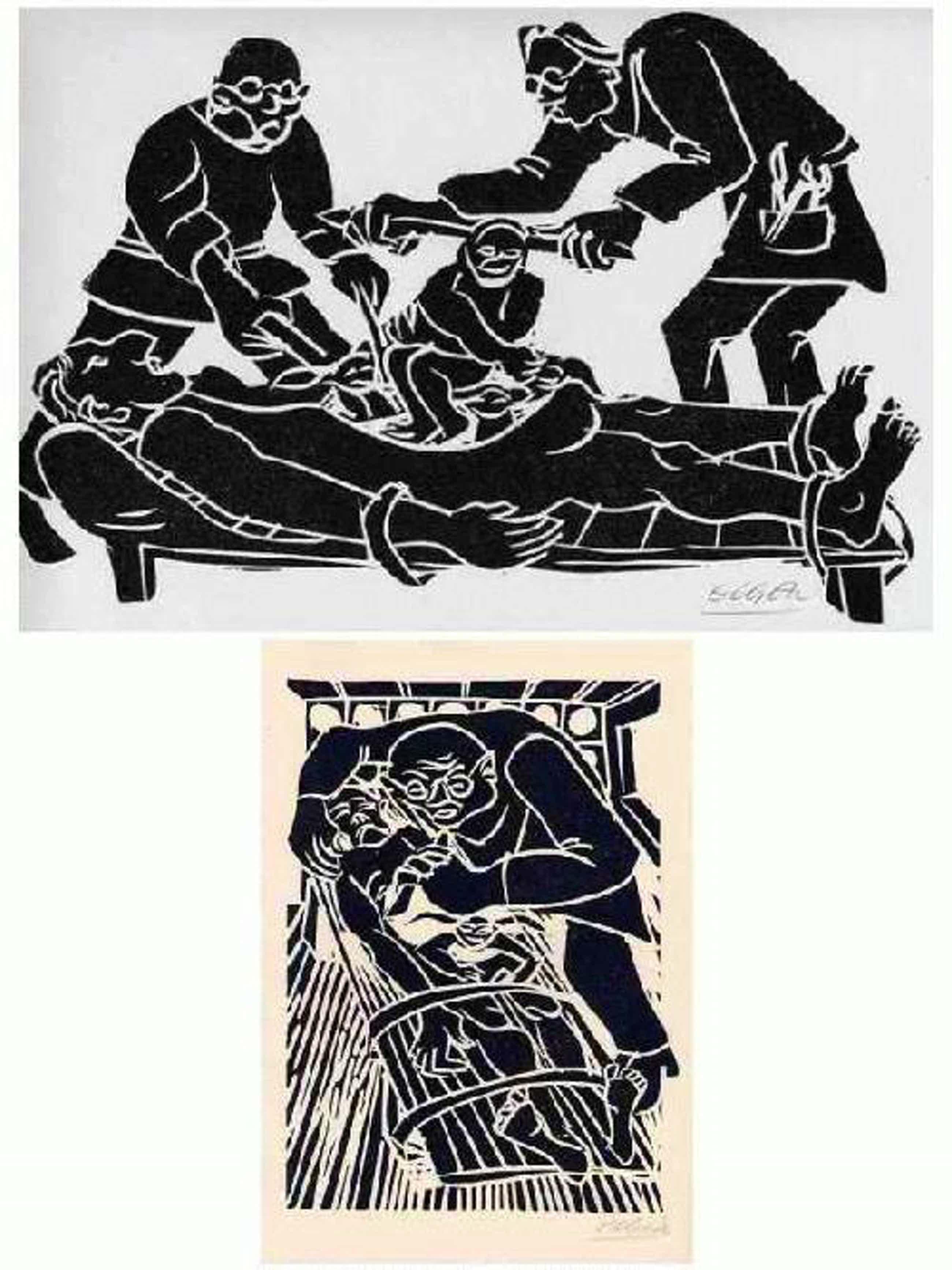 Heinrich Eugen von Zitzewitz - Hans SACHS 1976 -2 handsignierte OriginalLinolschnitte d.Künstlers a.POMMERN - 1978 Alphonse DAUDET kopen? Bied vanaf 32!