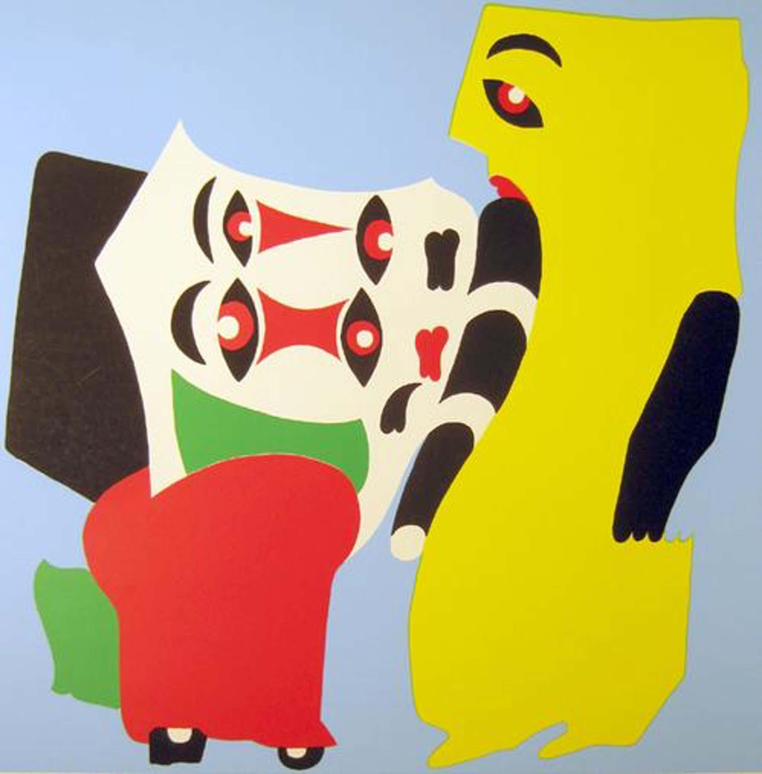 Atila Biro - Harlekin, Farbserigraphie,1972 kopen? Bied vanaf 55!