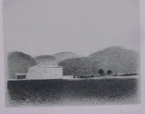 Gunnar Normann - Haus am See, Radierung 1977 kopen? Bied vanaf 50!