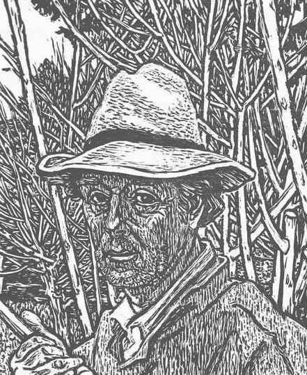 Karl Landolt - Hermann JACKL gewidmeter großer PORTRAIT-Holzschnitt des SCHWEIZER Künstlers aus STÄFA Handsigniert kopen? Bied vanaf 65!