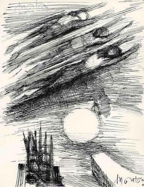 Roger Montanè - HIMMELFAHRT - Handsignierte Druckgraphik auf ARCHES-Bütten 1962 kopen? Bied vanaf 35!