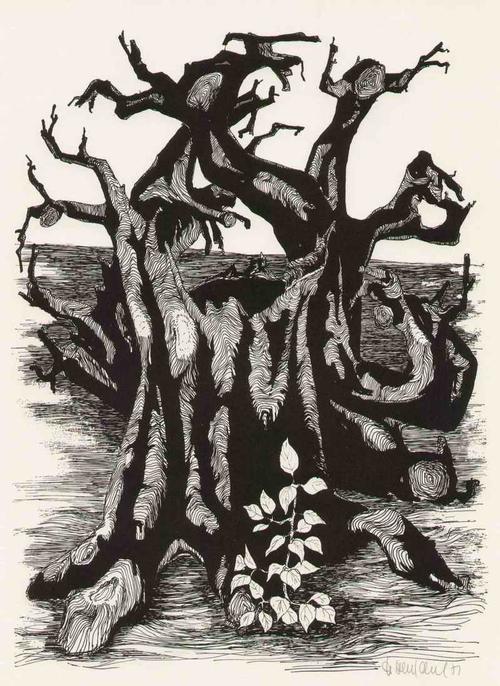 Hartmut Henschel - HOFFNUNG - Handsignierte und 1971 datierte Graphik des Illustratoren aus der UCKERMARK zu J.R.BECHER kopen? Bied vanaf 65!