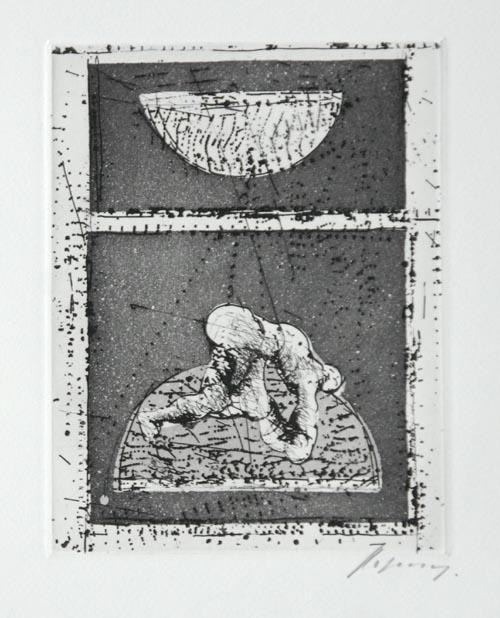 Rudolf Hoflehner - Hoflehner Rudolf - WINTER 66 - Radierung auf Bütten, handsigniert 1966 kopen? Bied vanaf 140!