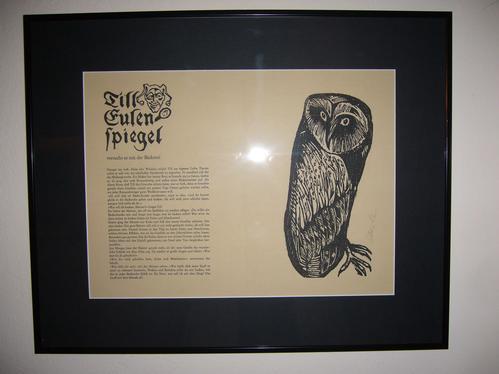 Klaus Eberlein - Holz-(Schrift) / Linolschnitt (Bild) von 1991, handsigniert kopen? Bied vanaf 98!