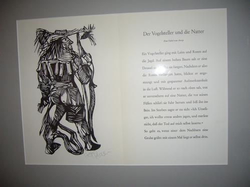 Herbert Felix Plahl - Holzschnitt, 1-farbig schwarz, handsigniert, 1970 kopen? Bied vanaf 98!