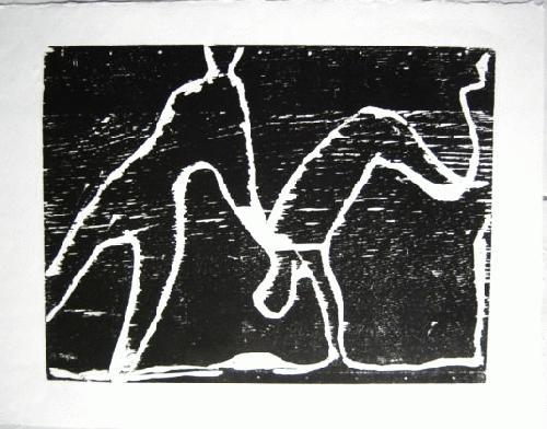 Rainer Noeres - Holzschnitt, Akrobaten II, 1980, Bildgröße 41x54,5cm, Blattgröße 52x67cm, signiert kopen? Bied vanaf 45!