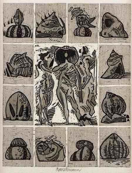 Went Strauchmann - HOMMAGE à BOTTICELLI - handsignierter OriginalLinolschnitt des MÜNCHNER Künstlers aus LITAUEN 1976 kopen? Bied vanaf 28!