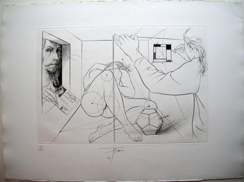 Pierre Yves Tremois - Hommage à Dürer - Originale handsignierte Radierung von 1985 kopen? Bied vanaf 250!