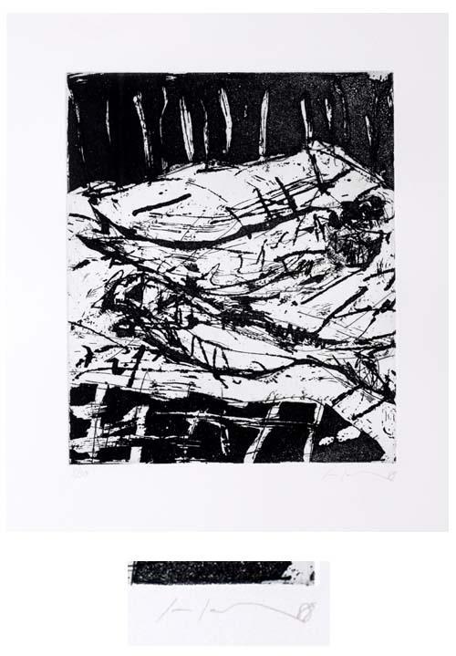 Friedemann Hahn - Hommage à Vincent van Gog, Original-Radierung auf Bütten von 1988, signiert und numeriert, Ex. 15/30 kopen? Bied vanaf 195!