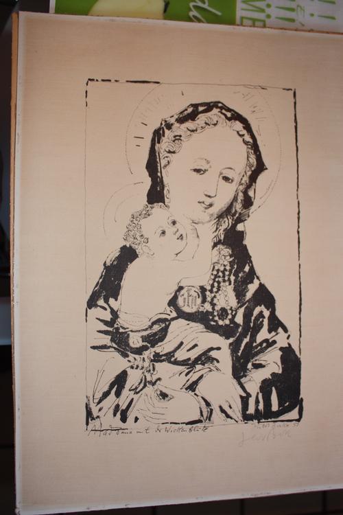 Hubert Berke - Hubert Berke Litho Madonna mit der Wickenblüte 1957 kopen? Bied vanaf 220!