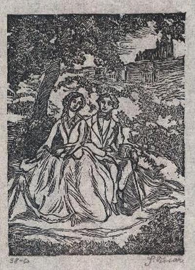 Slavoboj Tusar - - HYPERION - OriginalHolzschnitt des berühmten TSCHECHICHEN TYPOGRAPHEN sign.num.1914 kopen? Bied vanaf 35!