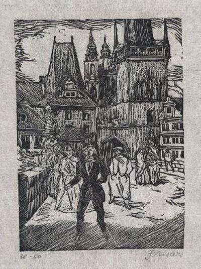 Slavoboj Tusar - - HYPERION - OriginalHolzschnitt des TSCHECHICHEN TYPOGRAPHEN sign.num.1914 kopen? Bied vanaf 35!