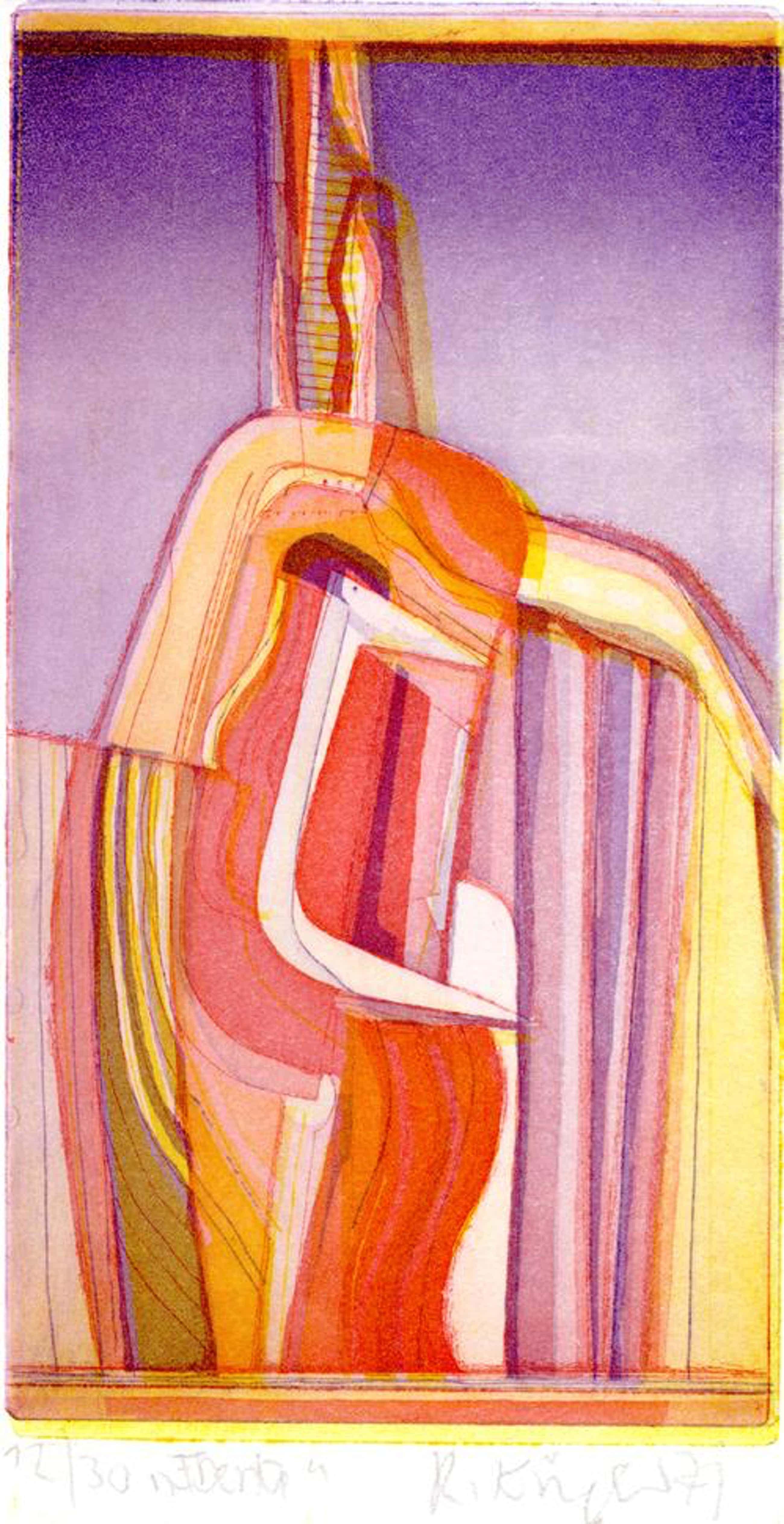 Rudolf Kügler - Iberia, Farbradierung, 1971 kopen? Bied vanaf 98!