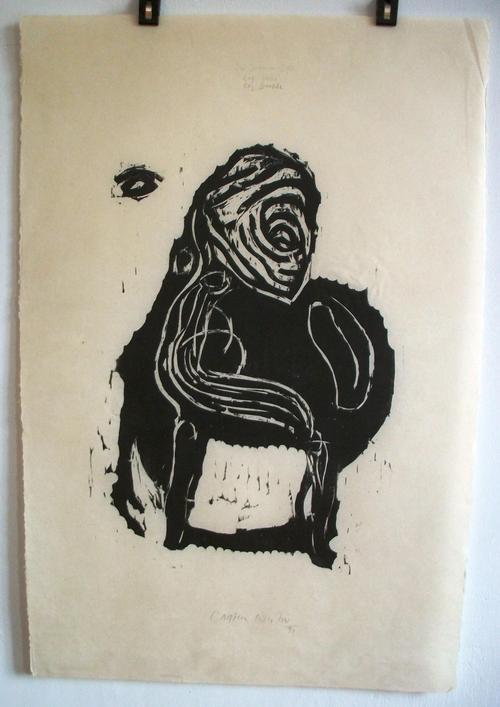 Carsten Nicolai - Im Inneren frisst das Helle das Dunkle, 1991, Holzschnitt auf dünnem Japanpapier kopen? Bied vanaf 450!