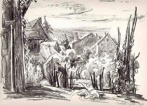 Jakob Gubler - Im KLEINDORF - OriginalLithographie des SCHWEIZER Künstlers - handsigniert & datiert 1946 kopen? Bied vanaf 65!