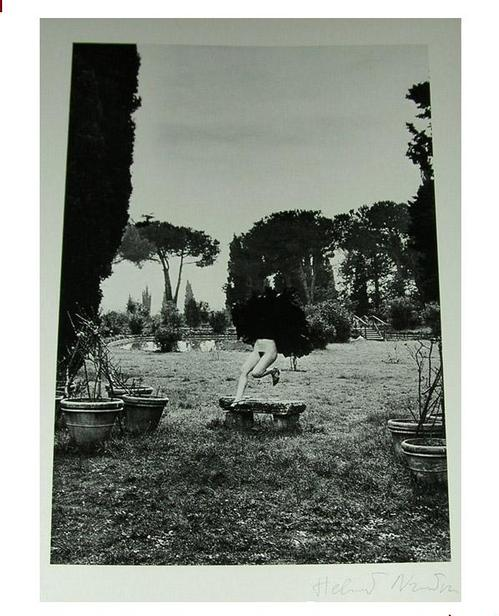 Helmut Newton - In a Garden near Rome 1977, Handsigniert. Vintage. kopen? Bied vanaf 350!