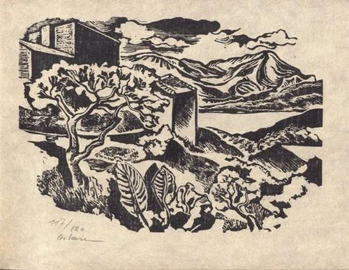 Helmut Ackermann - In der Provence - Linolschnitt - 1974 kopen? Bied vanaf 45!