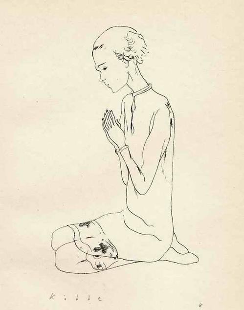 Georg G. Kobbe - In GEBET VERTIEFT - Handsignierte OriginalSteinradierung des 1930 prämierten BERLINer Illustratoren kopen? Bied vanaf 32!