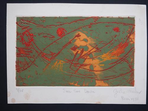 "Gertie Mesker - Informel. ""Sun Sun Down"", 1958, Paris. Farblithographie kopen? Bied vanaf 25!"